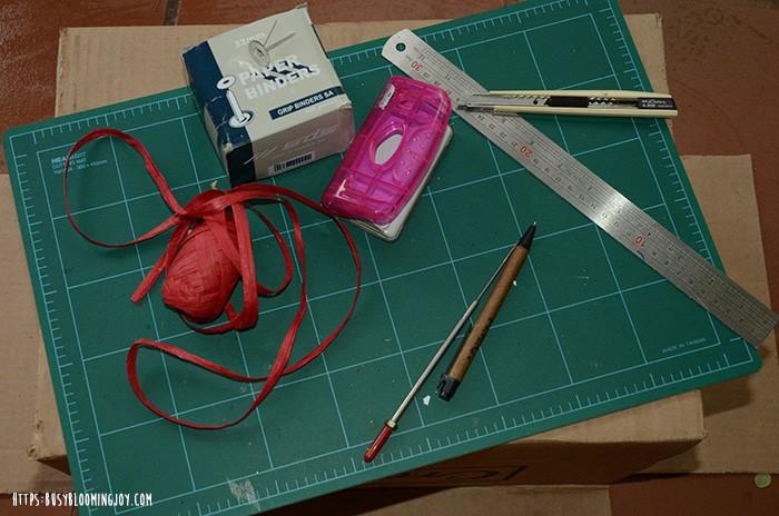 diy gift box - materials