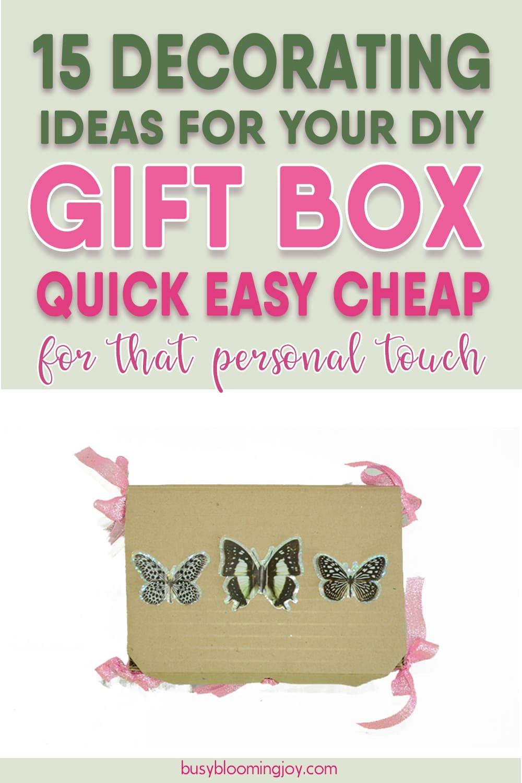 easy diy gift box decorating ideas