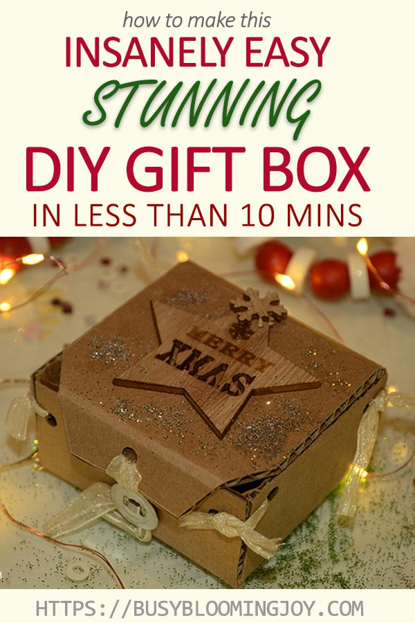 stunning easy gift box tutorial