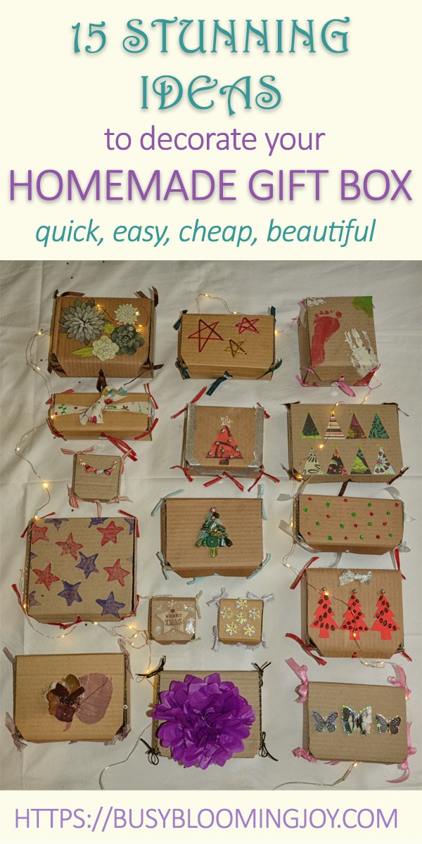 Get creative with these easy gift box decoration ideas this Christmas - make your own gift box and decorate it your way for that special someone. Quick, cheap, simple ideas for a stunning gift box this Christmas!