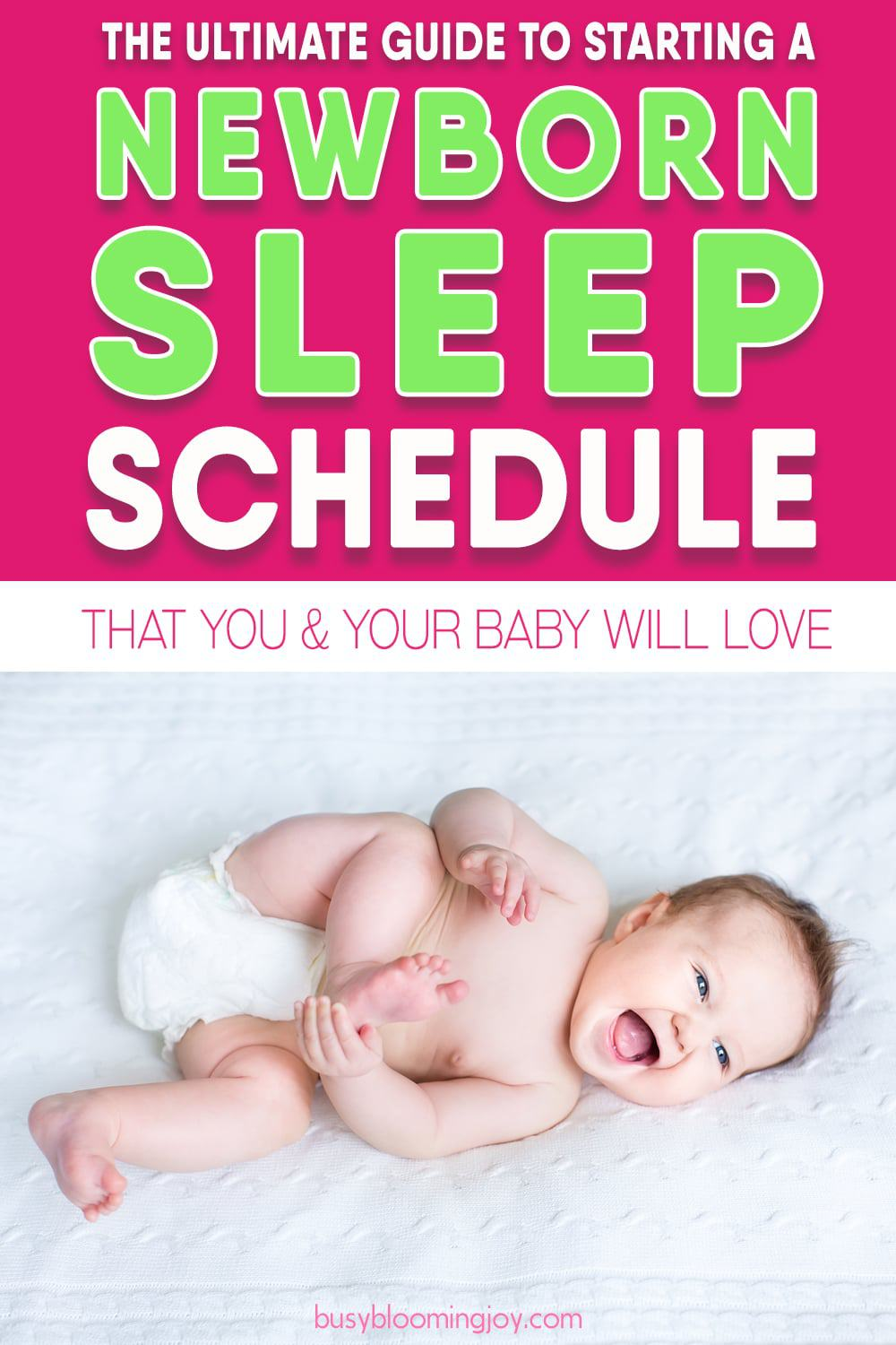 newborn sleep schedule feature image