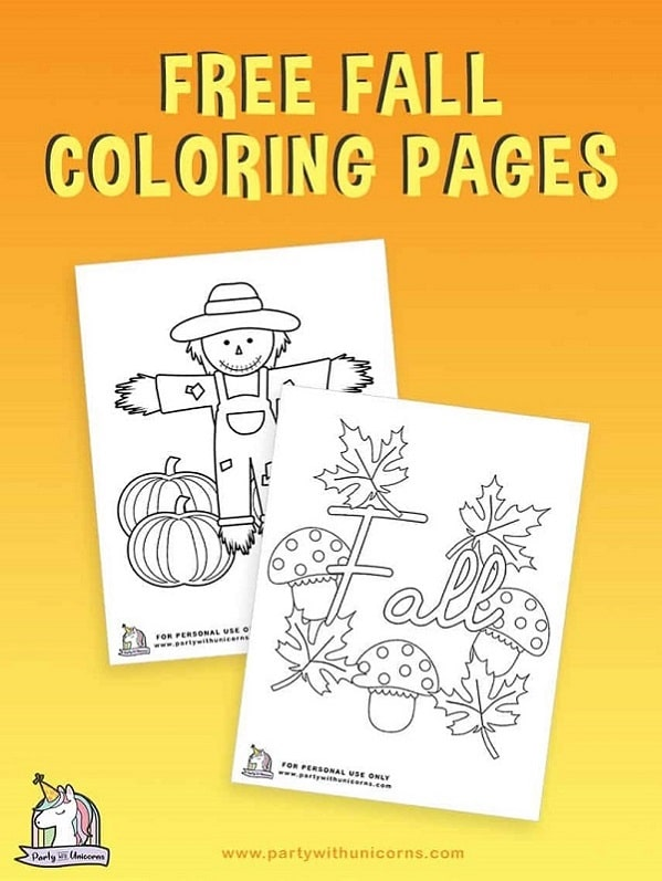 Fall-Coloring-Pages - printable Fall activity for toddlers
