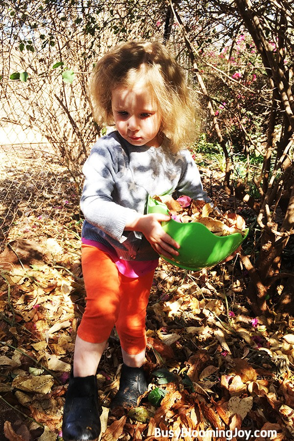 Toddler fall activity leaf monster
