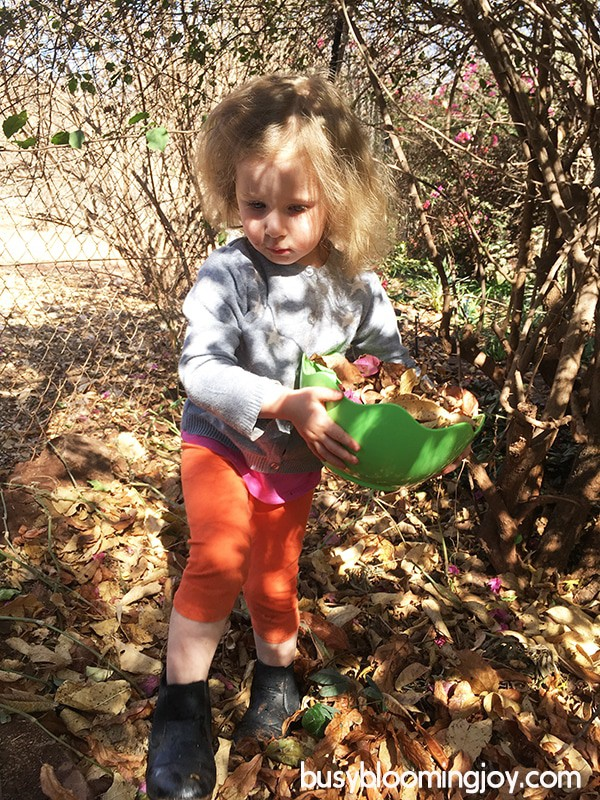 Toddler fall activity scavenging