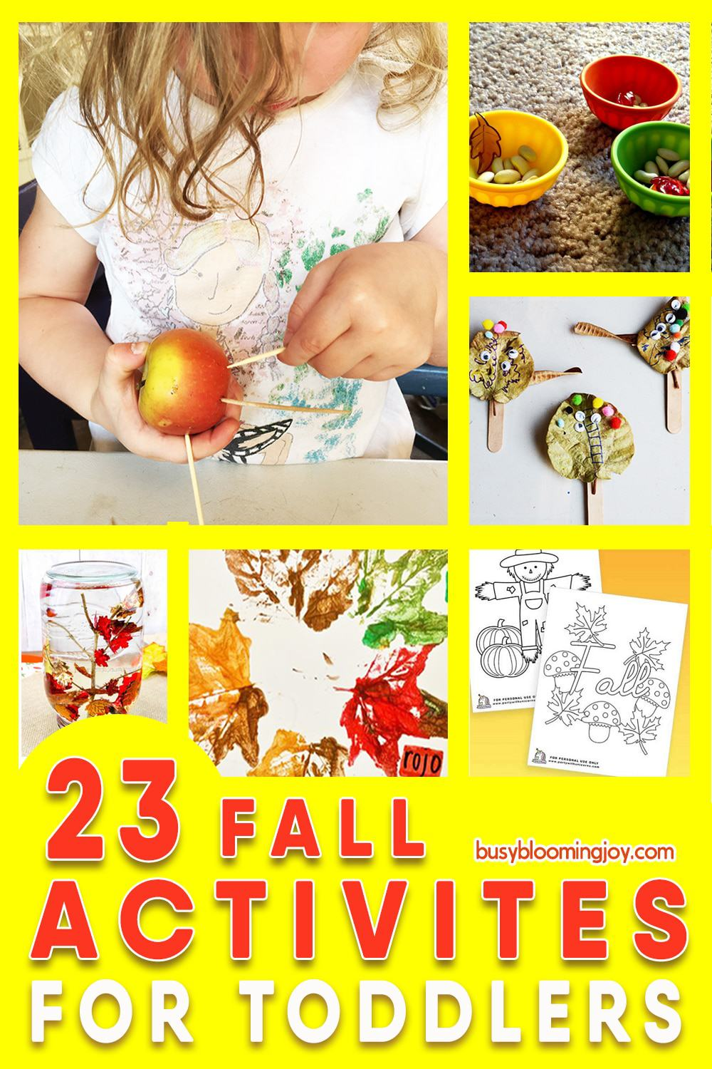 Fall activities for toddlers