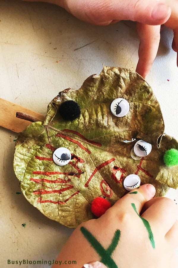 Sticking eyes onto lead monster craft