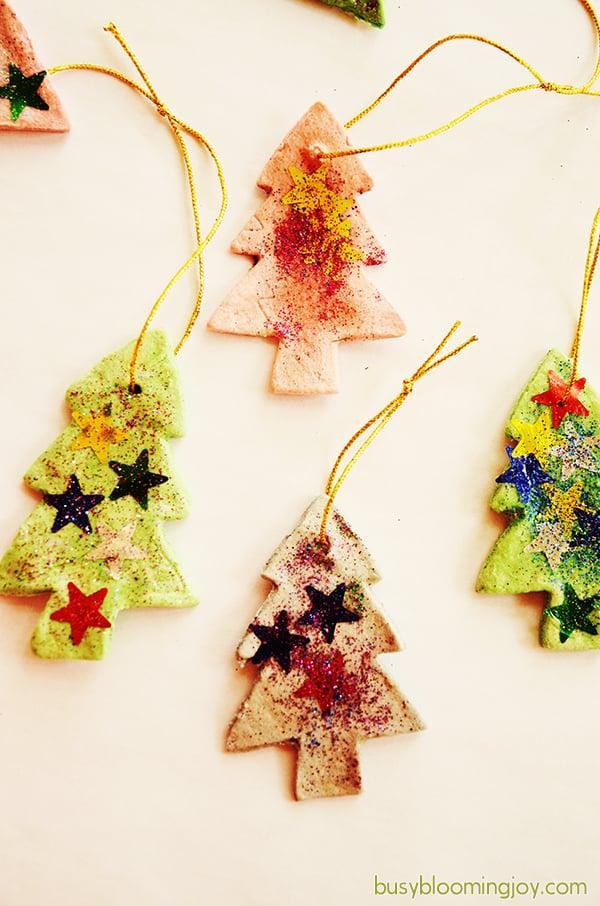 salt dough trees christmas ornaments