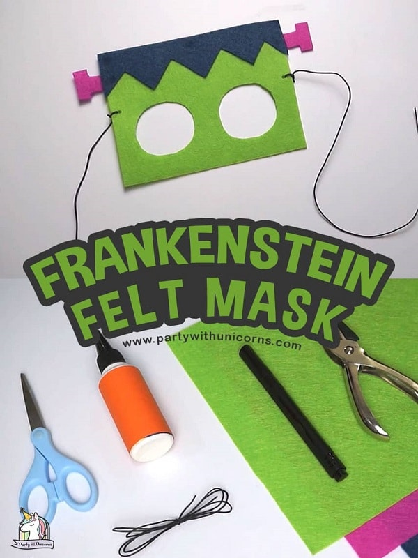 Frankenstein felt masks for toddlers