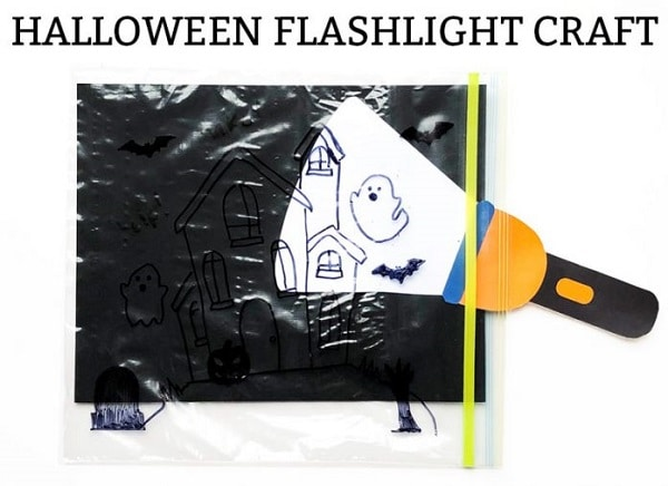 Halloween flashlight activity for kids