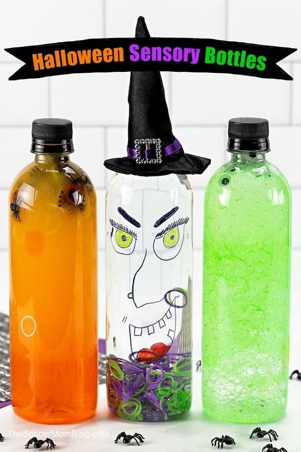 Halloween sensory bottles