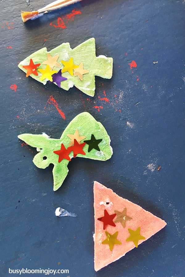 more stars on salt dough Christmas tree ornaments