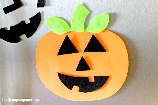 Pumpkin faces foam magnets