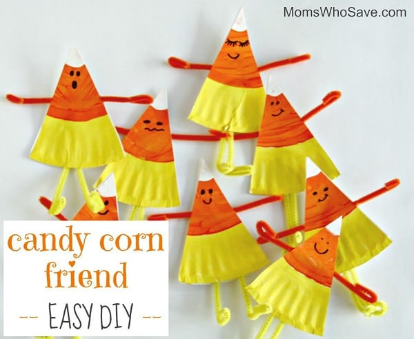 Candy corn halloween craft for toddlers