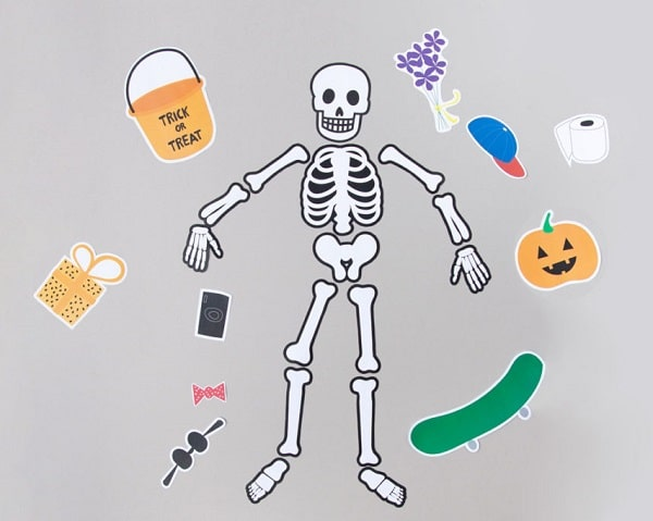 Paper skeleton learning activity for kids