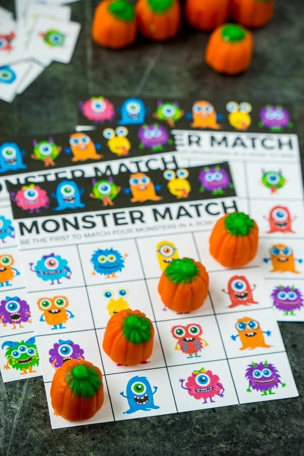 Halloween monster match for toddlers
