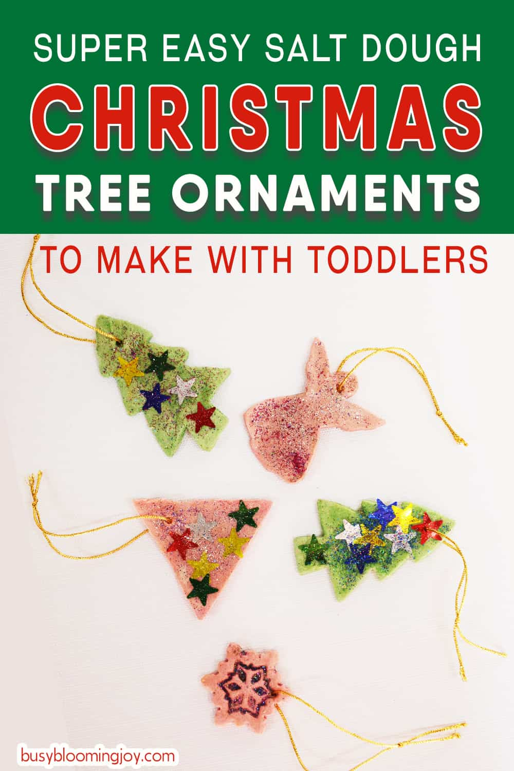 salt dough christmas tree ornaments