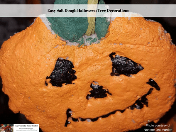 salt dough pumpkin faces