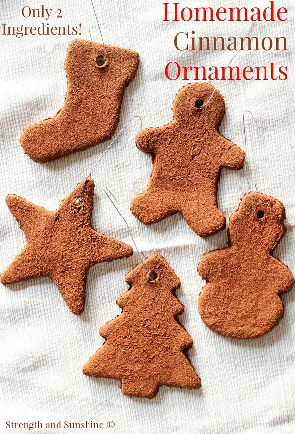 cinnamon christmas ornaments for tree toddler craft