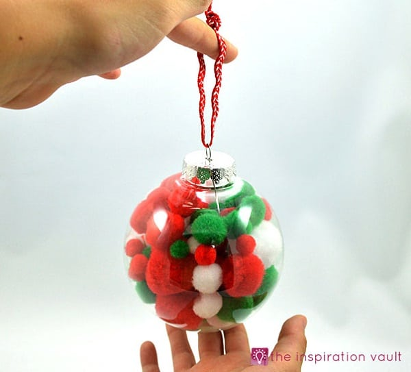 pompom christmas ornaments