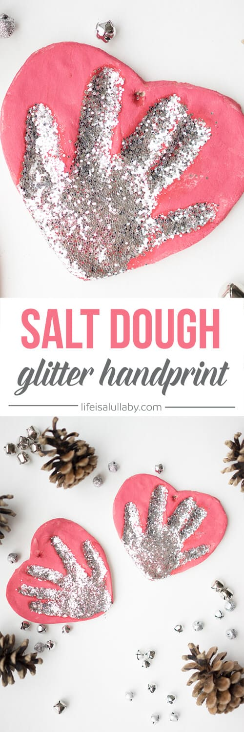 Salt-Dough-Glitter-Handprint-Ornaments for toddlers to make