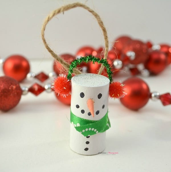 Cork snowman tree ornaments