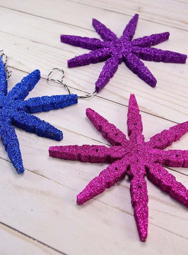 clothespin DIY christmas tree ornaments