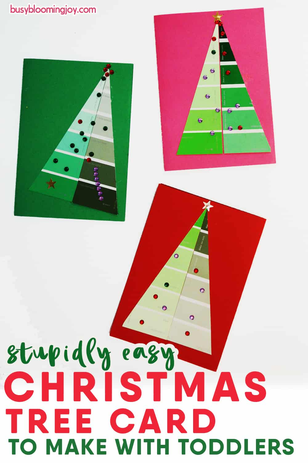Easy Christmas tree card and craft for toddlers