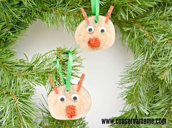 rudolf christmas ornaments for toddlers to make