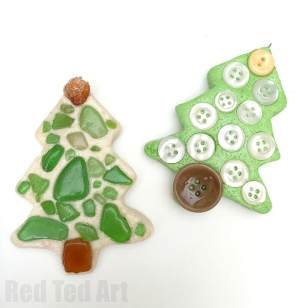 saltdough christmas tree ornaments