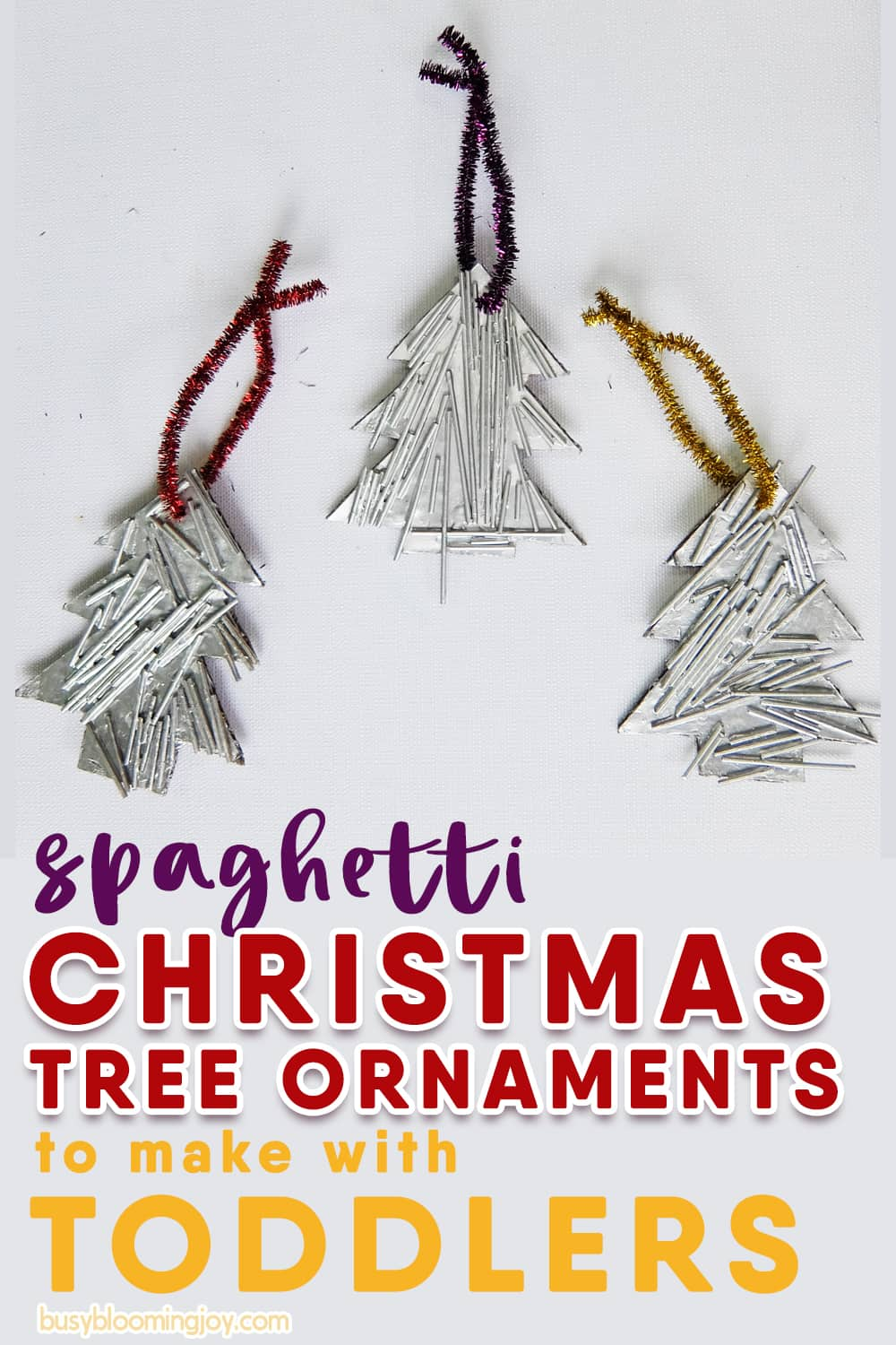 spaghetti Christmas tree ornaments