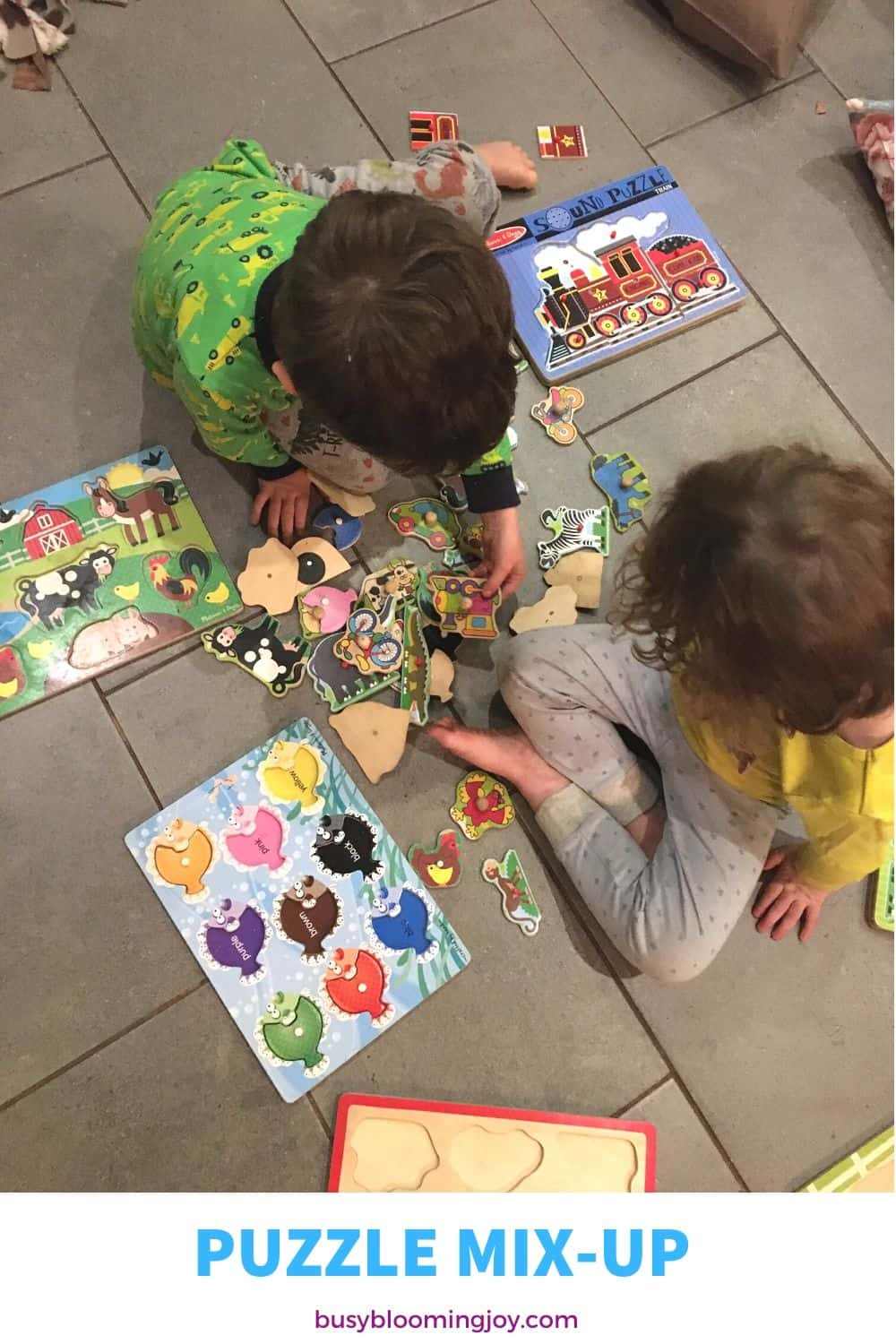 Puzzle mix up toddler activity