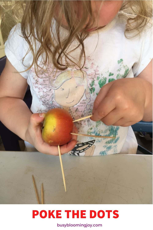 apple poking easy no prep fine motor toddler activity