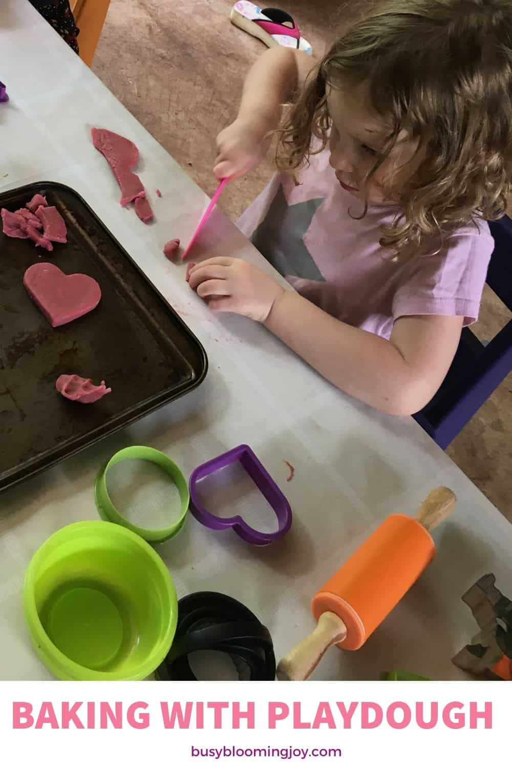 playdough is a wonderful easy sensory toddler activity to do at home