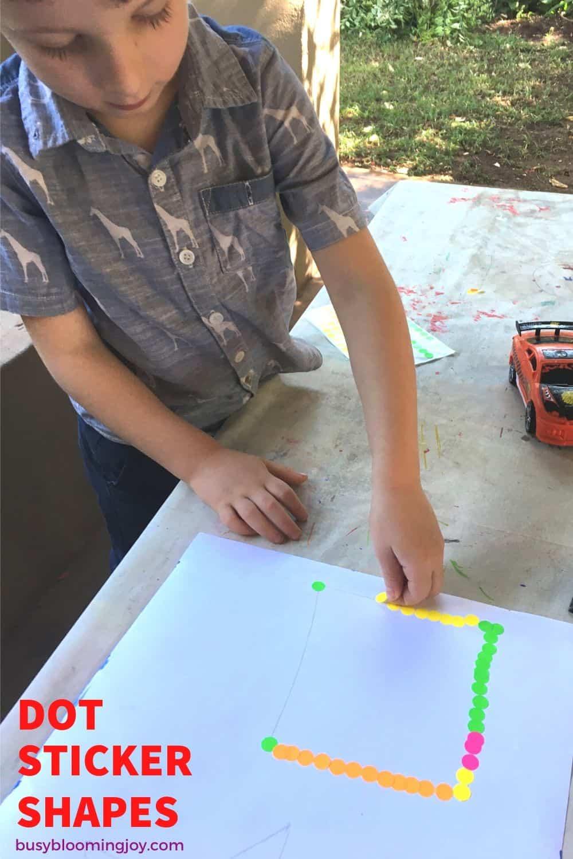 dot sticker tracing preschooler or toddler activity for fine motor (no prep)