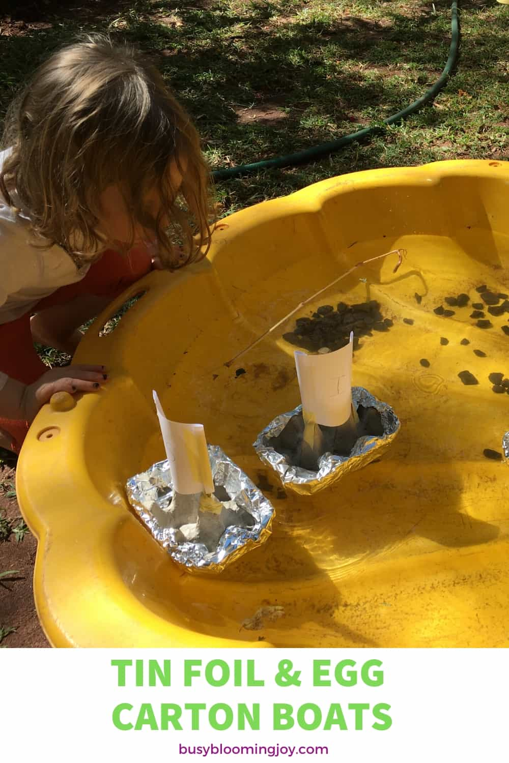 homemade boats - fun for outdoor water activity for preschoolers