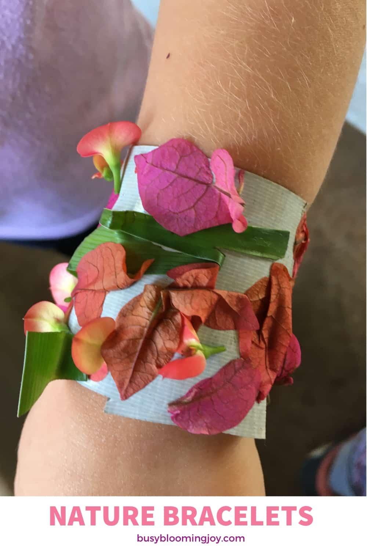 nature bracelets - fun outdoor activity for preschoolers