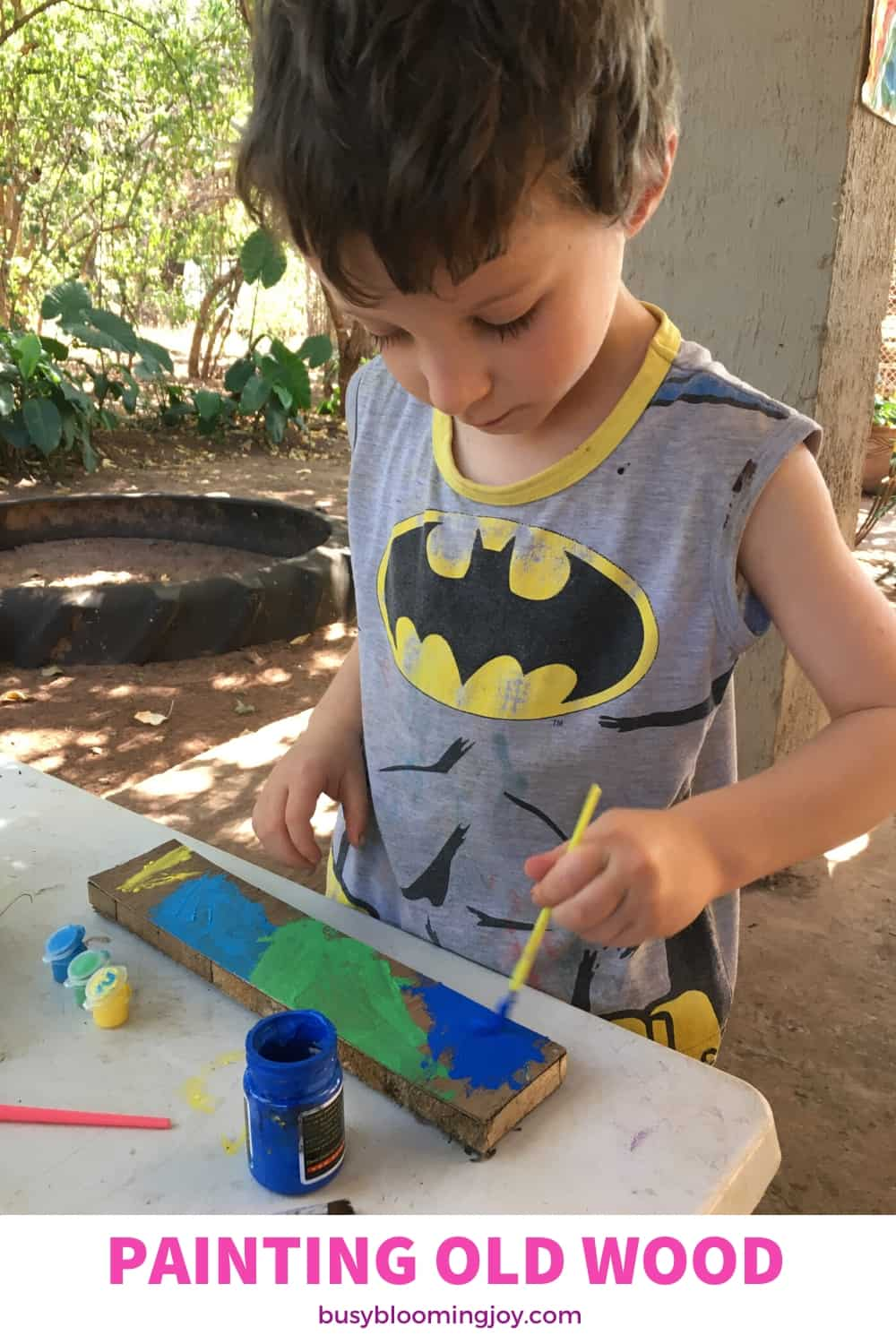 outdoor painting activity for preschoolers and toddlers