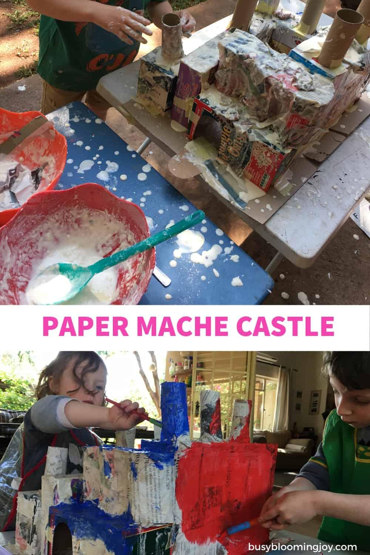 paper mache fun for preschoolers - activity best done outdoors
