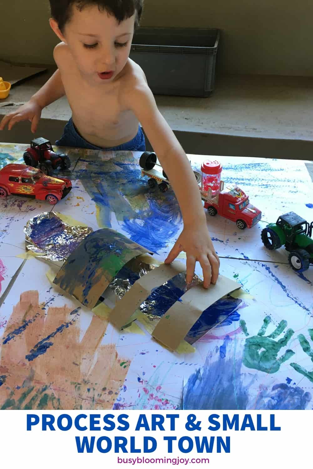 process art come small world fun for preschoolers - outdoor activity for sure