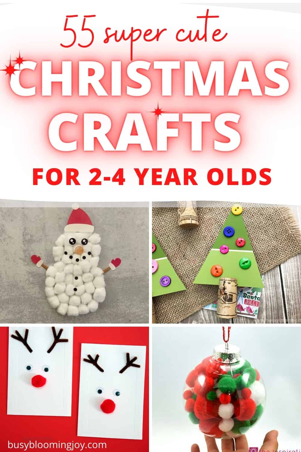 55 cute Christmas crafts for toddlers & preschoolers (including lots of stress-free, minimal mess ones)