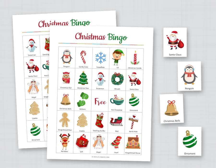 Christmas bingo activity for toddlers and preschoolers
