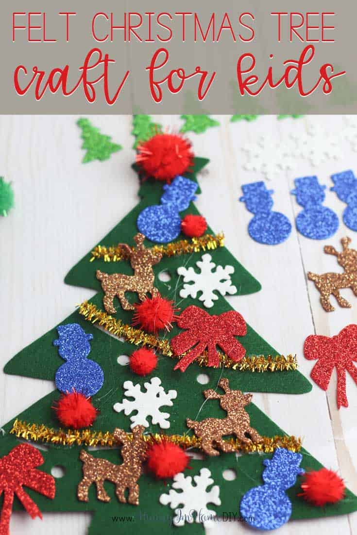Felt Christmas tree toddler craft