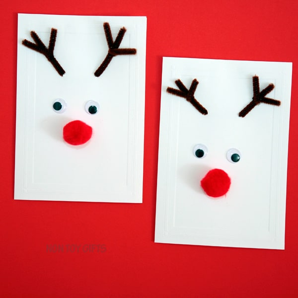 Rudolf Christmas card toddler craft