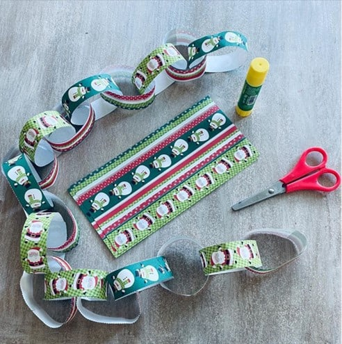 earlyeducationzone Christmas paper chain activity