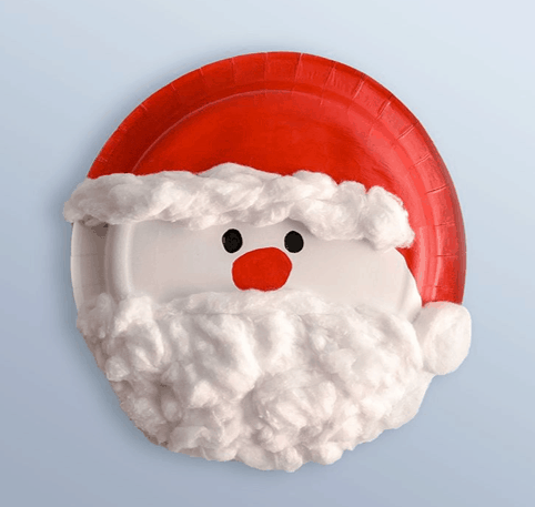 swissperscotton PAPER PLATE SANTA CRAFT