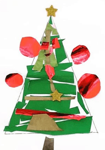 micromacro_bari paper strips Christmas tree