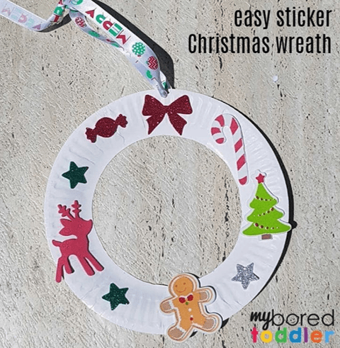 myboredtoddler easy Christmas craft for toddlers