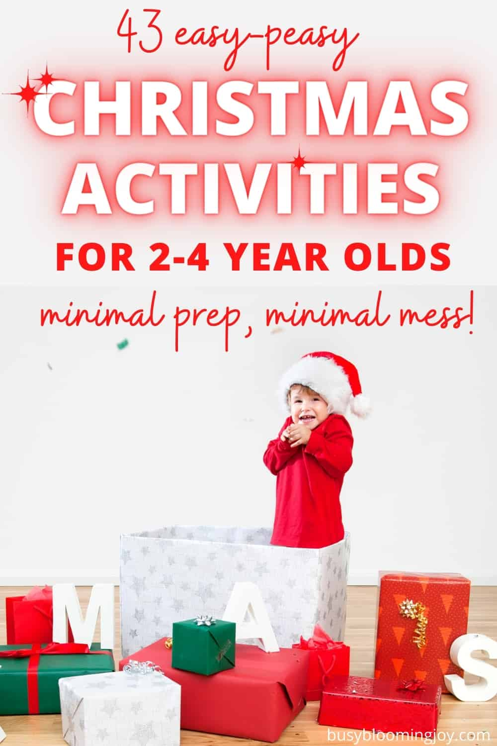 Christmas activities for toddlers and preschoolers feature image