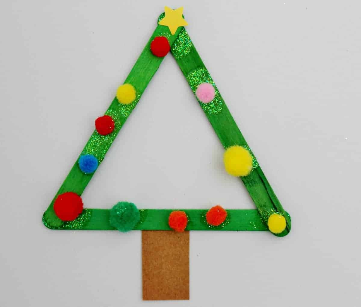 Craft stick Christmas tree craft