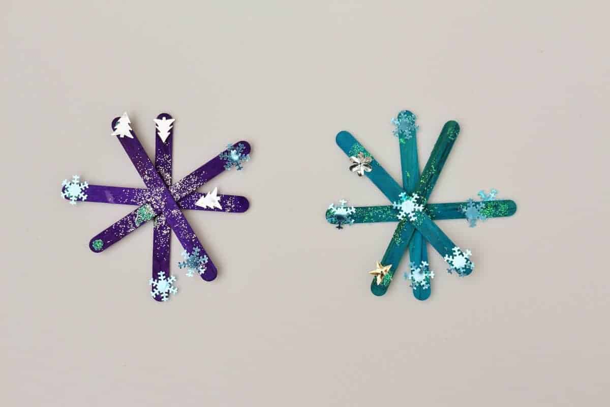 snowflake ornament toddler Christmas craft